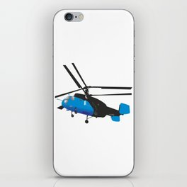 Black and Blue Helicopter iPhone Skin