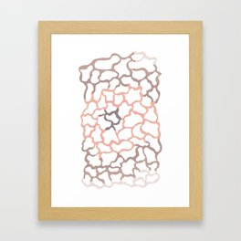 abstract shades of brown Framed Art Print
