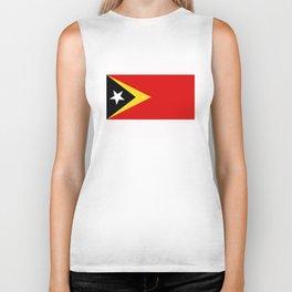 East Timor country flag Biker Tank