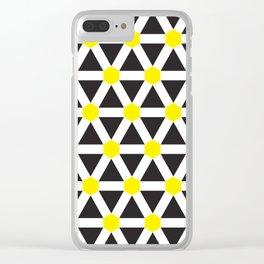Geometric Pattern #116 Clear iPhone Case