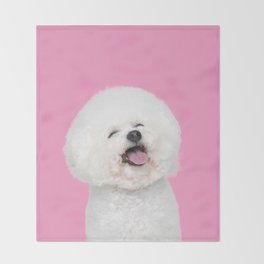 Laughing Puppy Throw Blanket
