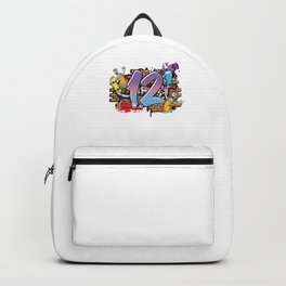Hiphop Dancer Graffiti Artist Typography 12th Birthday Hip Hop Urban Wall Mural Street Art Backpack