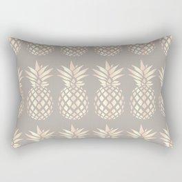 Pretty copper rose gold pineapple Rectangular Pillow