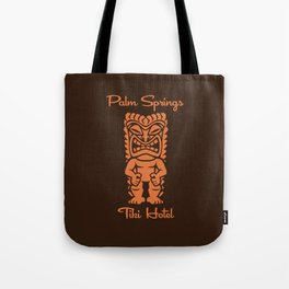 Tiki Hotel Logo Tote Bag