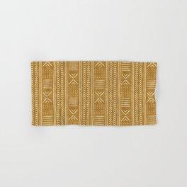 mustard mud cloth - arrow cross Hand & Bath Towel