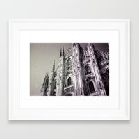 milan Framed Art Prints featuring Milan by very giorgious