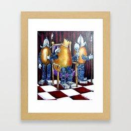 The vanity of King Eggward Framed Art Print