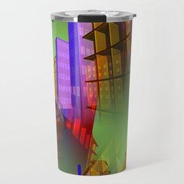 city pattern -2- Travel Mug