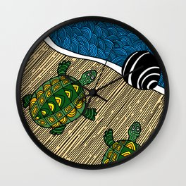 Struggle of the Turtle to the Sea Wall Clock