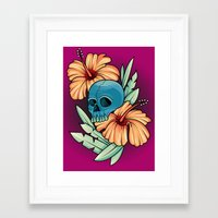 hibiscus Framed Art Prints featuring Hibiscus by kellyhalloran