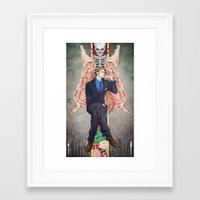 hannibal Framed Art Prints featuring Hannibal by Chillalee