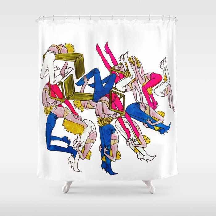 rock rests. Shower Curtain