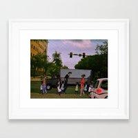 cowboy bebop Framed Art Prints featuring Spike Spiegel Pt. 2 (Cowboy Bebop) (St.petersburg FL) by Jackobi Austin