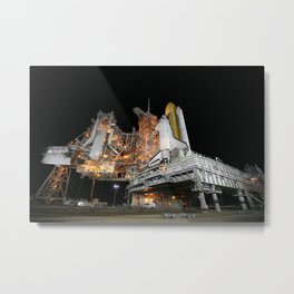 742. STS-133 Payload Canister onboard Space Shuttle Discovery Metal Print