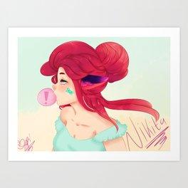 Bubble Gum Nikita Art Print