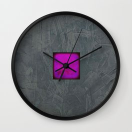 Slate Gray Lavender Fuschia Modern Art Wall Clock