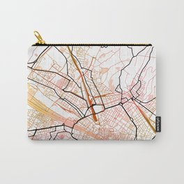Florence Italy Street Map Art Watercolor Color Carry-All Pouch