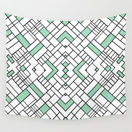 PS Grid 45 Mint Wall Tapestry