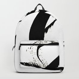 Brushstroke [7]: a minimal, abstract piece in black and white Backpack
