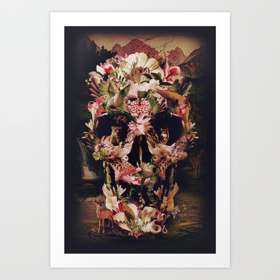 Jungle Skull Art Print
