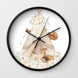 Spring Teepee Wall Clock
