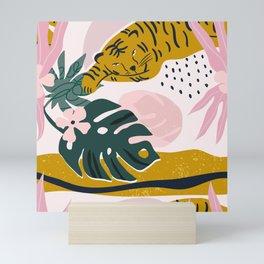 Tiger in a tropical jungle  Mini Art Print