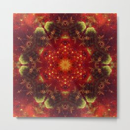 Royal Star Crest Mandala Metal Print