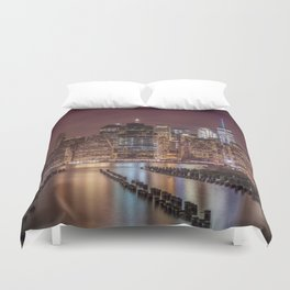 NEW YORK CITY Nightly Impressions | Panoramic Duvet Cover