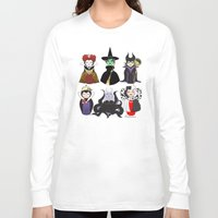 evil Long Sleeve T-shirts featuring Evil kokeshis by Pendientera