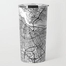 Amsterdam Map White Travel Mug