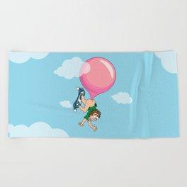 Don't Swallow Your Bubble Gum Beach Towel