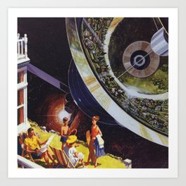 Planetary Precipice Art Print