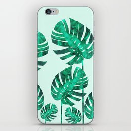 Composition tropical leaves XIX iPhone Skin