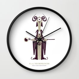 N is for Necromancer Wall Clock