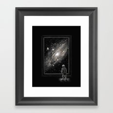 Looking Through a Masterpiece Framed Art Print