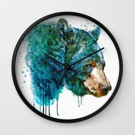 Bear Head Wall Clock