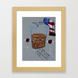 Chocolate Water Framed Art Print