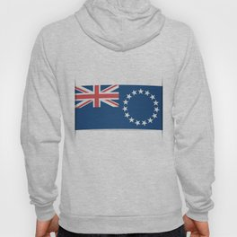 Flag of Cook Islands. The slit in the paper with shadows. Hoody