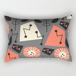 Mid-century modern flowers Rectangular Pillow