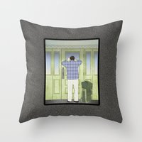 military Throw Pillows featuring Military Homecoming by Aquamarine Studio