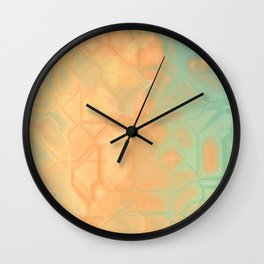 future fantasy riverbank Wall Clock