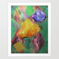 minerals Art Prints featuring Minerals, Minerals by Paula Morales