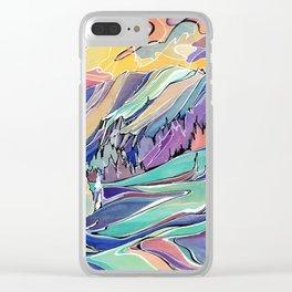 Ripple Ridge, Kootenay Pass Clear iPhone Case