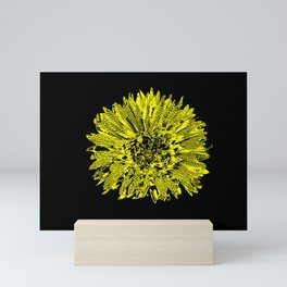 Stamped Wildflower in Yellow and Black Mini Art Print