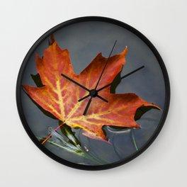 Fall Maple Leaf Wall Clock