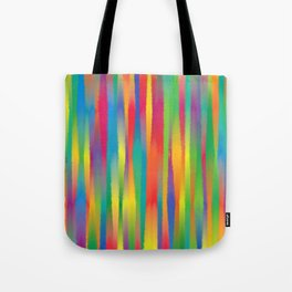 Paint Yourself In Stripe Tote Bag
