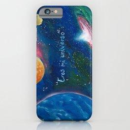 Eres mi universo iPhone Case