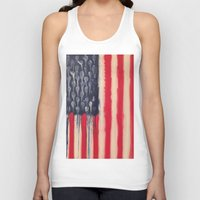 america Tank Tops featuring America  by Matt Pecson