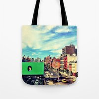 chelsea Tote Bags featuring Chelsea, NYC by Bolu By Rima