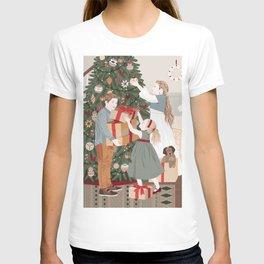 Kids decorating Christmas tree T-shirt